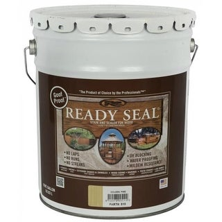 Ready Seal 510 Golden Pine Exterior Wood Stain and Sealer, 5 Gallon