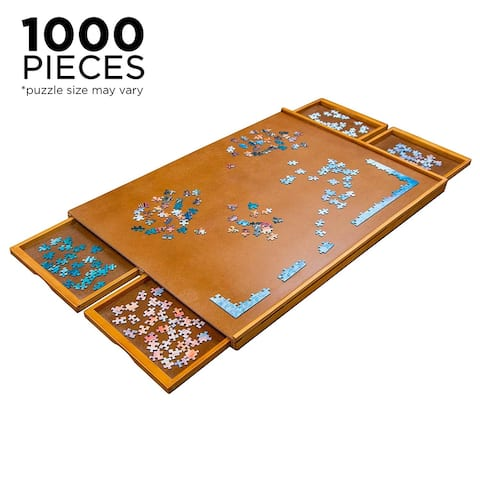Jumbl Wooden Jigsaw Puzzle Table with Smooth Plateau Work Surface