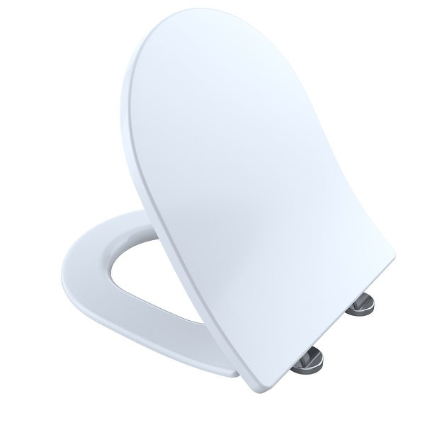 Super Toto Ss247 Slim D Shape Closed Front Toilet Seat With Softclose Cotton White Theyellowbook Wood Chair Design Ideas Theyellowbookinfo