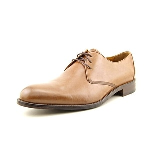 Johnston & Murphy Hartley Plain Men Round Toe Leather Brown Oxford