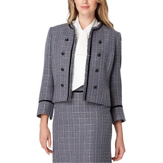 Link to Tahari Womens Metallic Tweed Jacket, grey, 8 Similar Items in Women's Outerwear