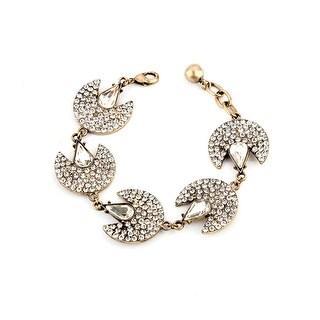 Gold Starlight Fan Charm Bracelet