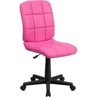 Aberdeen Mid-Back Pink Quilted Vinyl Swivel Home/Office Task Chair