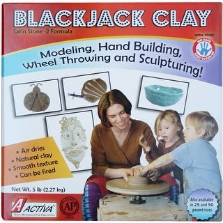 Blackjack Low Fire Clay 5lb-Gray/White - gray