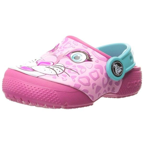 a44a13520ca9 Shop Crocs Kids  Fun Lab Girls Graphic Clog - 4 M US Toddler - Free ...