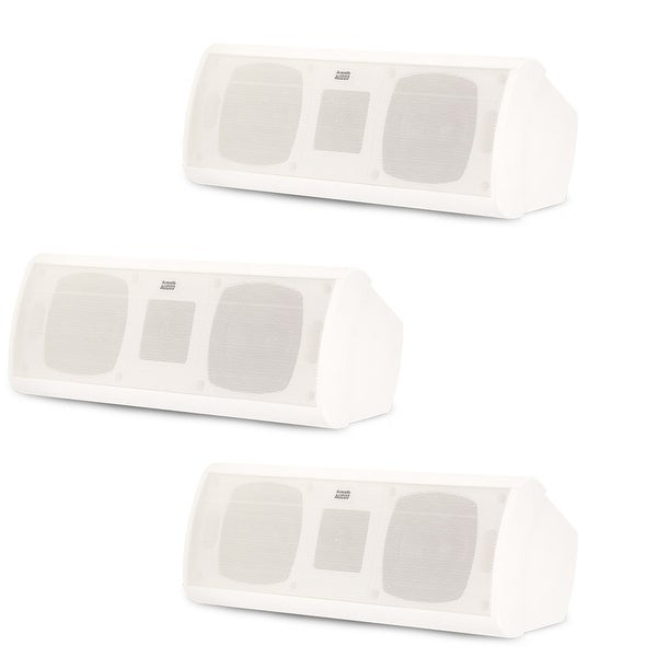 Acoustic Audio AA40CW Indoor 3 Way Speakers 1500W White 3 Speaker Set AA40CW-3S