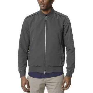 Theory Brant Williston Slim Fit Bomber Jacket Twombly Grey Small S
