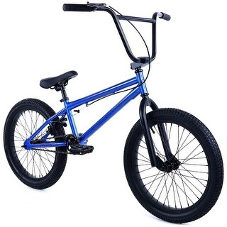 "Elite 20"" BMX - Stealth Bicycle Freestyle Bike - Blue"