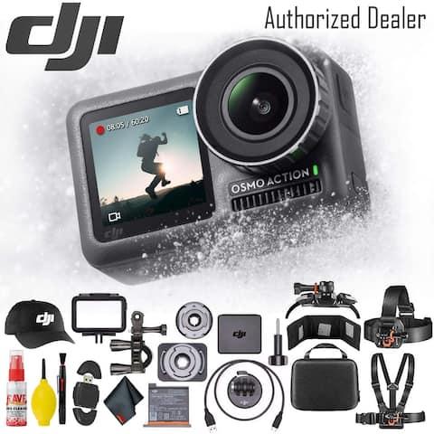 DJI Osmo Action 4K Camera - Battery Case - Outdoor Action Kit - DJI - Action Cap Set