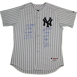 New York Yankees Dynasty 11 Signature Mariano Rivera Pinstripe Authentic Jersey  w All 4 96989900