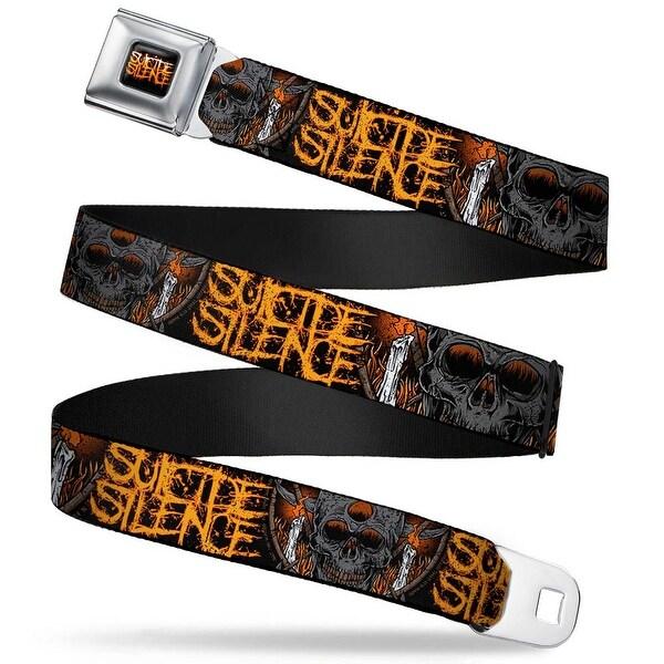 Suicide Silence Splatter Full Color Black Oranges Suicide Silence Skull Seatbelt Belt