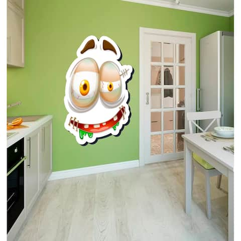 Funny Face Wall Decal, Funny Face Wall sticker, Funny Face wall decor