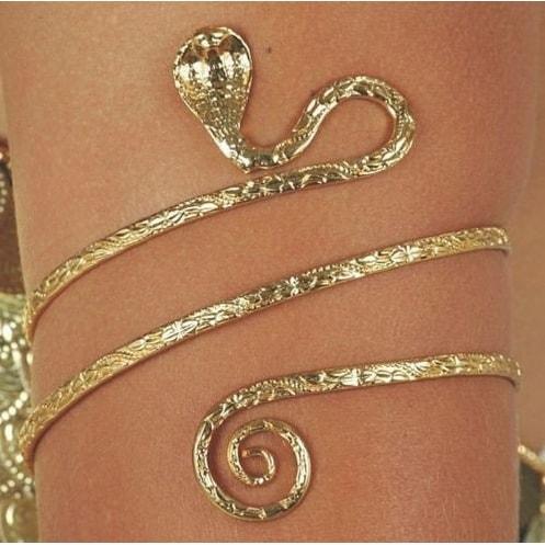 Upper Arm Metal Bracelet Snake Armband Armlet Anklet Bangle Gold Tone Beautiful