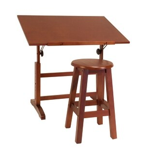 Offex Creative Table and Stool Set - Walnut