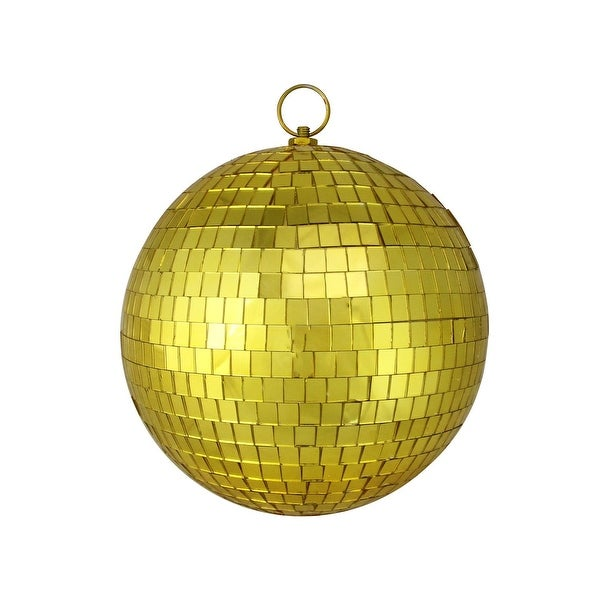 "8"" Gold Mirrored Glass Disco Ball Christmas Ornament (200mm)"