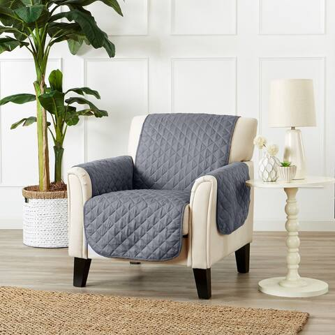 Great Bay Home Reversible Quilted Chair Furniture Protector