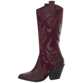 Link to Carlos by Carlos Santana Womens Axel Leather Pointed Toe Mid-Calf Cowboy Boots Similar Items in Women's Shoes