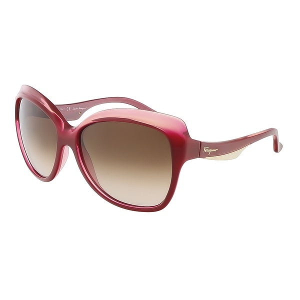 Salvatore Ferragamo SF706S 631 Coral Red Gradient Cat Eye sunglasses
