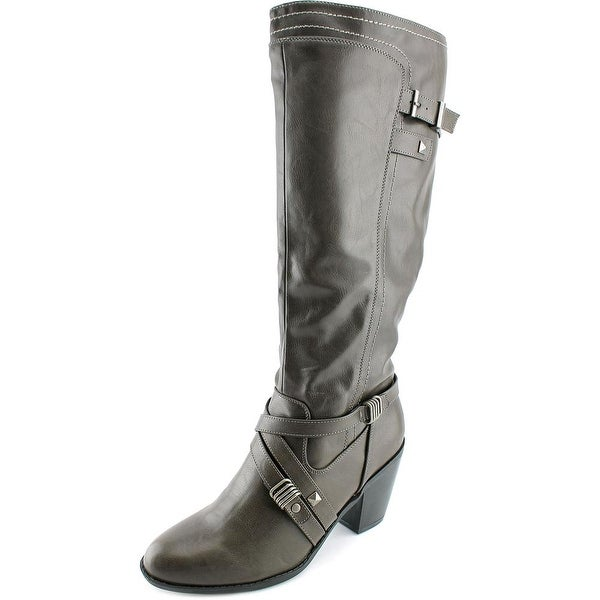 Rialto Madyson Women Round Toe Synthetic Gray Knee High Boot