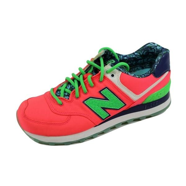 New Balance Women's 574 Pink/Green-Navy Luau Pack WL574ILC Size 5.5