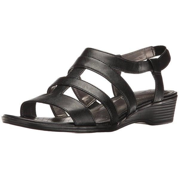 LifeStride Womens Myleene Open Toe Casual Slingback Sandals