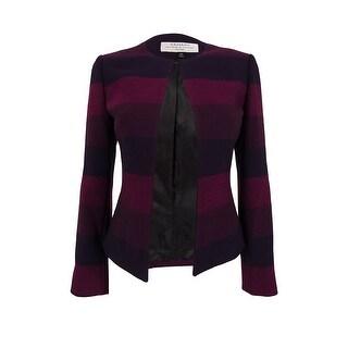 Tahari Women's Long Sleeve Striped Blazer Jacket