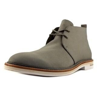 Calvin Klein Jonas Men Wingtip Toe Canvas Gray Chukka Boot