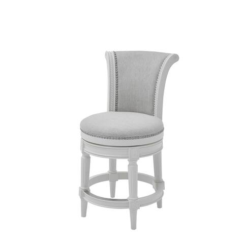 Alabaster white Hardwood Frame Upholstered Bar Stool
