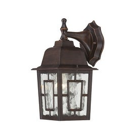 Nuvo Lighting 60/4922 Banyon Single-Light Wall Lantern with Clear Water Glass Panels - rustic bronze