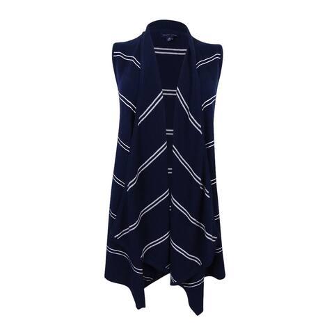 Tommy Hilfiger Women's Harper Draped Striped Vest