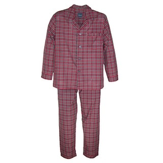 Majestic International Men's Easy Care Plaid PJ Set