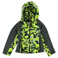 The North Face Baby Boys Glacier Full Zip Hoodie Highlighter Yellow - highlighter yellow/charcoal grey/black