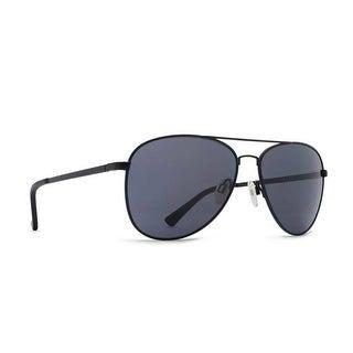 Vonzipper Sunglasses Farva Aviator Black Satin with Grey Lens