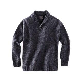 Pendleton Western Sweater Mens Shetland Shawl Pullover Wool AF482