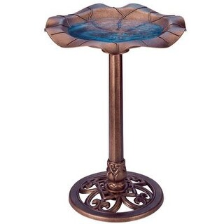 Gardman Usa Ba01282 Lily Leaf Bird Bath Copper