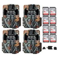Browning Trail Cameras Dark Ops Pro XD 24MP Game Cam (4-Pack) Bundle - Camouflage