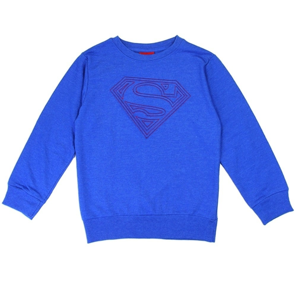 Superman Little Boys Logo Sweatshirt
