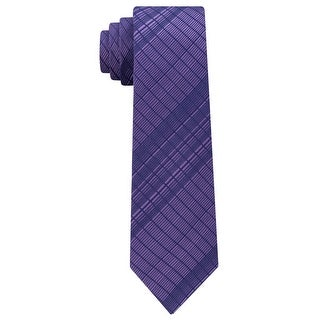 Link to Calvin Klein Mens Plaid Self-Tied Necktie - One Size Similar Items in Ties