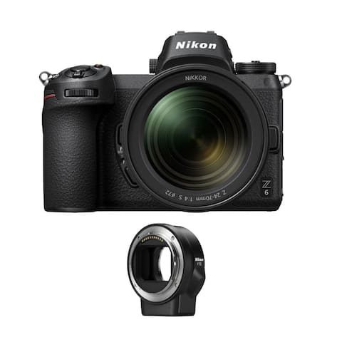 Nikon Z6 Mirrorless Camera with 24-70mm Lens and FTZ Mount Adapter