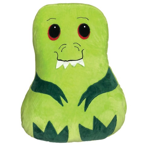 Comfort Companion Snuggly Dinosaur Pet Pillow - Stuffed Animal Cushion with Storage Pocket for Kids - 13 in. x 3 in. x 16 in.
