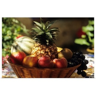 """bowl of summer fruit"" Poster Print"