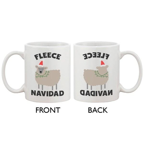 Fleece Navidad Cute Holiday 11oz Coffee Mug Cup- Funny Christmas Gift Idea
