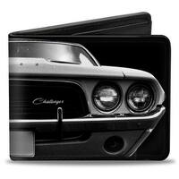1976 Challenger Black & White Bi Fold Wallet - One Size Fits most