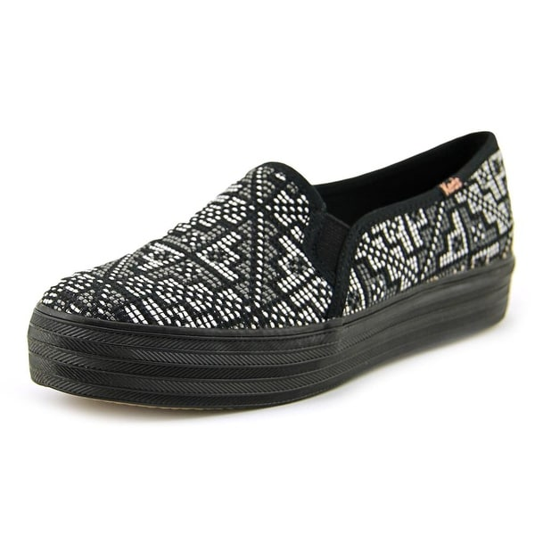 Keds Triple Deck Stitch Women Black Flats