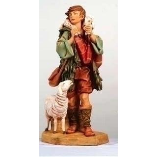 "Fontanini 27"" Shepherd Gabriel with Lamb Christmas Nativity Statue #53151"