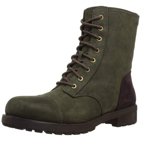 Ugg Womens Kilmer Suede Round Toe Mid-Calf Combat Boots
