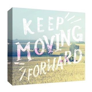 """PTM Images 9-126880  PTM Canvas Collection 12"""" x 12"""" - """"Keep Moving"""" Giclee Rural Art Print on Canvas"""