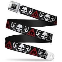 Harry Potter Logo Full Color Black White Deathly Hallows Symbol Death Mark Seatbelt Belt