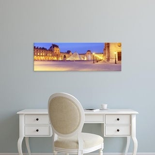 Easy Art Prints Panoramic Images's 'Louvre Museum, Paris, France' Premium Canvas Art