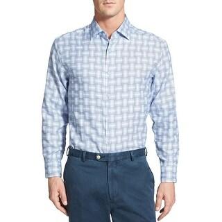 Tommy Bahama Tagine Tiles Plaid Shirt Small S Charter Long Sleeve